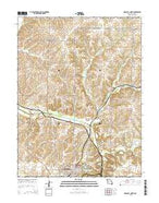 Marshall North Missouri Current topographic map, 1:24000 scale, 7.5 X 7.5 Minute, Year 2015 from Missouri Map Store