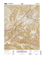 Marshfield Missouri Current topographic map, 1:24000 scale, 7.5 X 7.5 Minute, Year 2015 from Missouri Map Store