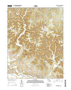 Marthasville Missouri Current topographic map, 1:24000 scale, 7.5 X 7.5 Minute, Year 2015