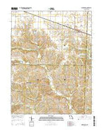 Martinsburg Missouri Current topographic map, 1:24000 scale, 7.5 X 7.5 Minute, Year 2015 from Missouri Map Store