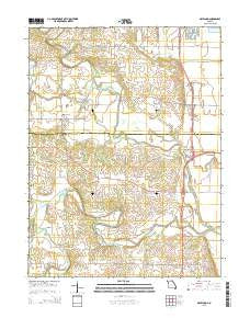 Maywood Missouri Current topographic map, 1:24000 scale, 7.5 X 7.5 Minute, Year 2015