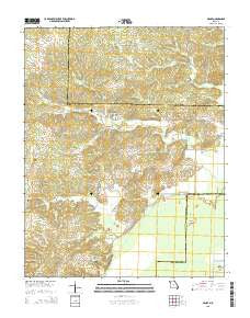 McGee Missouri Current topographic map, 1:24000 scale, 7.5 X 7.5 Minute, Year 2015