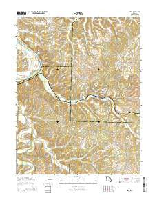 Meta Missouri Current topographic map, 1:24000 scale, 7.5 X 7.5 Minute, Year 2015