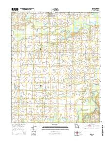 Metz Missouri Current topographic map, 1:24000 scale, 7.5 X 7.5 Minute, Year 2015