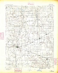 Mexico Missouri Historical topographic map, 1:125000 scale, 30 X 30 Minute, Year 1890