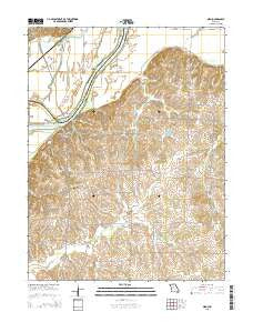 Miami Missouri Current topographic map, 1:24000 scale, 7.5 X 7.5 Minute, Year 2015
