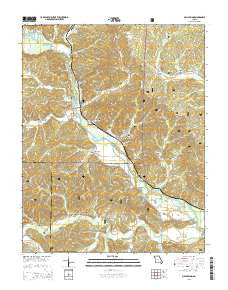 Mill Spring Missouri Current topographic map, 1:24000 scale, 7.5 X 7.5 Minute, Year 2015