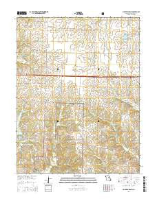 Millersburg NE Missouri Current topographic map, 1:24000 scale, 7.5 X 7.5 Minute, Year 2015