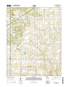 Mindenmines Missouri Current topographic map, 1:24000 scale, 7.5 X 7.5 Minute, Year 2015