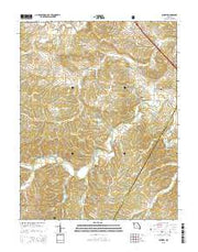 Minnith Missouri Current topographic map, 1:24000 scale, 7.5 X 7.5 Minute, Year 2015 from Missouri Maps Store