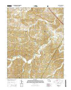 Minnith Missouri Current topographic map, 1:24000 scale, 7.5 X 7.5 Minute, Year 2015