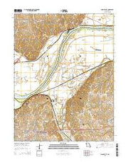 Missouri City Missouri Current topographic map, 1:24000 scale, 7.5 X 7.5 Minute, Year 2015 from Missouri Maps Store