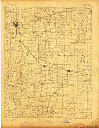 Moberly Missouri Historical topographic map, 1:125000 scale, 30 X 30 Minute, Year 1890