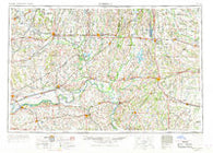 Moberly Missouri Historical topographic map, 1:250000 scale, 1 X 2 Degree, Year 1954