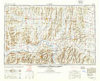 Moberly Missouri Historical topographic map, 1:250000 scale, 1 X 2 Degree, Year 1953
