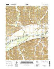 Mokane East Missouri Current topographic map, 1:24000 scale, 7.5 X 7.5 Minute, Year 2015 from Missouri Maps Store
