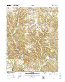 Monegaw Springs Missouri Current topographic map, 1:24000 scale, 7.5 X 7.5 Minute, Year 2015