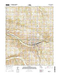 Monett Missouri Current topographic map, 1:24000 scale, 7.5 X 7.5 Minute, Year 2015