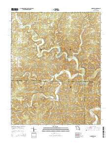 Montauk Missouri Current topographic map, 1:24000 scale, 7.5 X 7.5 Minute, Year 2015