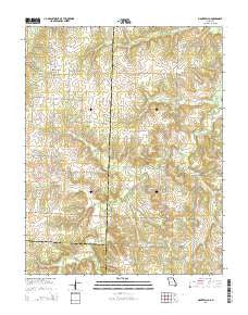 Montevallo Missouri Current topographic map, 1:24000 scale, 7.5 X 7.5 Minute, Year 2015
