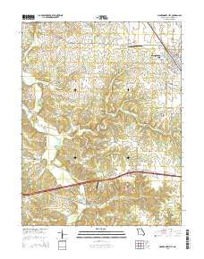 Montgomery City Missouri Current topographic map, 1:24000 scale, 7.5 X 7.5 Minute, Year 2015