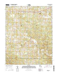 Montier Missouri Current topographic map, 1:24000 scale, 7.5 X 7.5 Minute, Year 2015