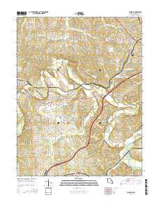 Moselle Missouri Current topographic map, 1:24000 scale, 7.5 X 7.5 Minute, Year 2015