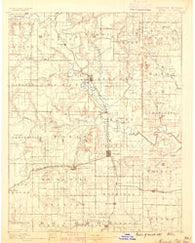 Mound City Kansas Historical topographic map, 1:125000 scale, 30 X 30 Minute, Year 1887