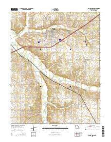 Mount Vernon Missouri Current topographic map, 1:24000 scale, 7.5 X 7.5 Minute, Year 2015