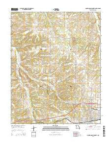 Mountain Grove North Missouri Current topographic map, 1:24000 scale, 7.5 X 7.5 Minute, Year 2015