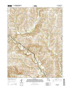 Napton Missouri Current topographic map, 1:24000 scale, 7.5 X 7.5 Minute, Year 2015