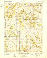 Nashua Missouri Historical topographic map, 1:24000 scale, 7.5 X 7.5 Minute, Year 1950
