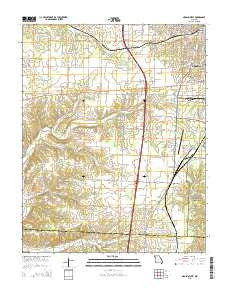 Neosho West Missouri Current topographic map, 1:24000 scale, 7.5 X 7.5 Minute, Year 2015
