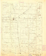 Nevada Missouri Historical topographic map, 1:125000 scale, 30 X 30 Minute, Year 1886