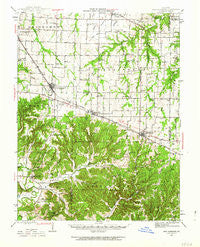 New Florence Missouri Historical topographic map, 1:62500 scale, 15 X 15 Minute, Year 1942
