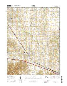 New Florence Missouri Current topographic map, 1:24000 scale, 7.5 X 7.5 Minute, Year 2015