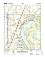 New Madrid Missouri Current topographic map, 1:24000 scale, 7.5 X 7.5 Minute, Year 2015 from Missouri Maps Store