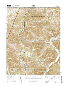 Niangua Missouri Current topographic map, 1:24000 scale, 7.5 X 7.5 Minute, Year 2015