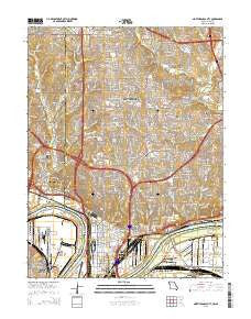 North Kansas City Missouri Current topographic map, 1:24000 scale, 7.5 X 7.5 Minute, Year 2015