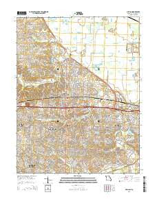 O'Fallon Missouri Current topographic map, 1:24000 scale, 7.5 X 7.5 Minute, Year 2015