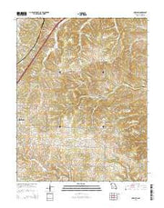 Oakland Missouri Current topographic map, 1:24000 scale, 7.5 X 7.5 Minute, Year 2015 from Missouri Maps Store