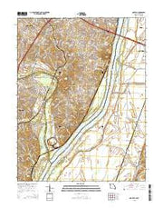 Oakville Missouri Current topographic map, 1:24000 scale, 7.5 X 7.5 Minute, Year 2015 from Missouri Maps Store