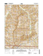 Odessa North Missouri Current topographic map, 1:24000 scale, 7.5 X 7.5 Minute, Year 2015 from Missouri Map Store