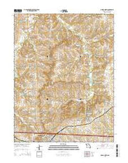 Odessa North Missouri Current topographic map, 1:24000 scale, 7.5 X 7.5 Minute, Year 2015 from Missouri Maps Store