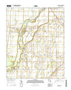 Oglesville Missouri Current topographic map, 1:24000 scale, 7.5 X 7.5 Minute, Year 2015 from Missouri Map Store