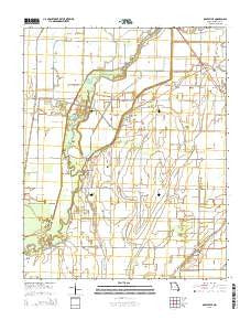 Oglesville Missouri Current topographic map, 1:24000 scale, 7.5 X 7.5 Minute, Year 2015