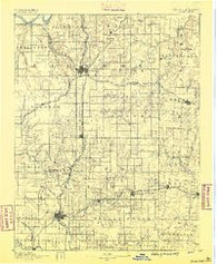 Olathe Kansas Historical topographic map, 1:125000 scale, 30 X 30 Minute, Year 1887
