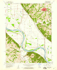 Oregon Missouri Historical topographic map, 1:24000 scale, 7.5 X 7.5 Minute, Year 1959