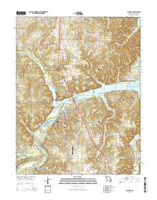 Osceola Missouri Current topographic map, 1:24000 scale, 7.5 X 7.5 Minute, Year 2015