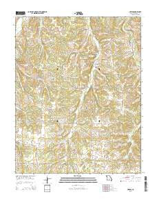 Owens Missouri Current topographic map, 1:24000 scale, 7.5 X 7.5 Minute, Year 2015